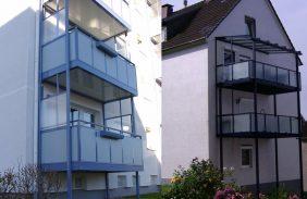 Balkonanlage mit Dach