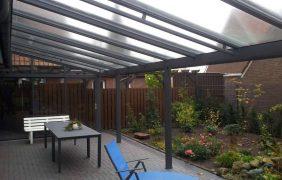 Terrassenüberdachungen graues Profil