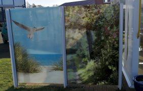Windsschutz weiß mit Foto