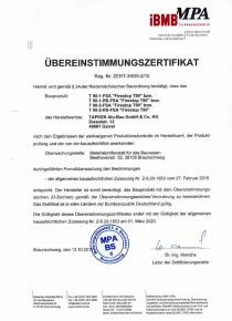 Tapken Alu Bau Zertifikat Brandschutz T-90