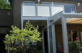 Balkon im Terrassendach integriert