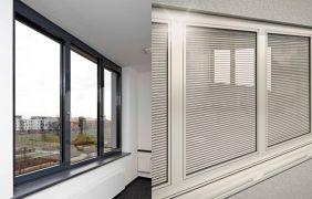 Alu-Fenster in anthrazit und silber