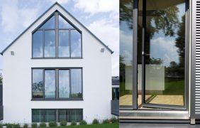 Fenster mit Absturzsicherung und Balkontür